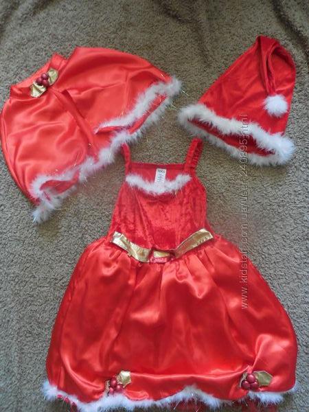 Карнавальные платья Рапунцель, помощница Санта Клауса, George, Tesco на 5-6
