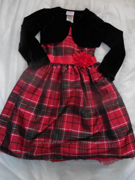 Праздничное платье с болеро Blueberi Boulevard, США, на 5-6 лет