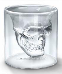 Графины, стаканы и рюмки в виде черепа