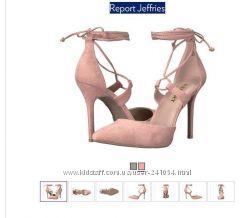 Туфли открытые на завязках Report Jeffries пудра нюд