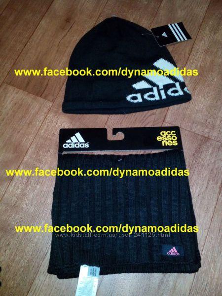 Шапка шарф Адидас Adidas W ESS комплект оригинал