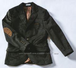 Пиджак школьный велюровый черный на мальчика от 7 до 16 лет