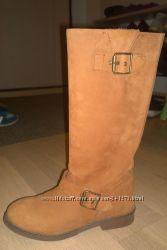 кожаные сапоги 37 размер