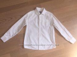 Рубашка белая 7-8лет