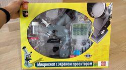 Микроскоп Edu-Toys с оптическими линзами увеличение в 100 раз