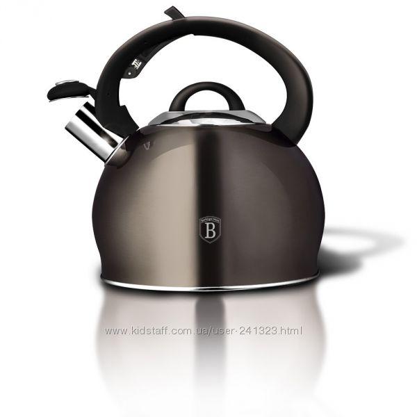Чайник со свистком 3 литра Berlinger Haus Metallic Line Carbon Edit BH-1789