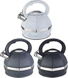 Чайник из нержавеющей стали со свистком  3 л Edenberg EB-2475