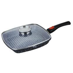 Сковорода-гриль с крышкой и сьемной ручкой Benson 28 см BN-310