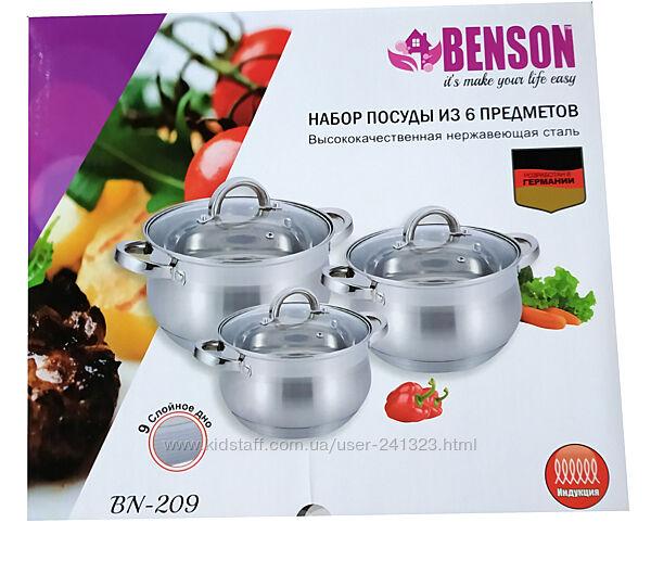 Набор кастрюль 6 предметов Benson BN-209