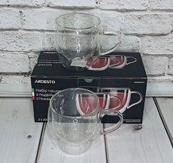 Набор чашек с двойными стенками 300 мл Ardesto 2 пр. AR2630GHN