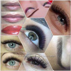 Наращивание, ламинирование и перманентный макияж