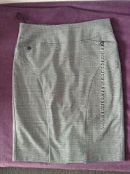 Офисная юбка в клетку NEXT, размер 50