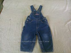 Полукомбинезон джинсовый на рост 86 см