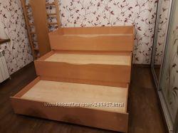 Трехъярусная трехэтажная кровать выкатная