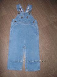 Полукомбинезон джинсовый с подкладкой 1-2 года