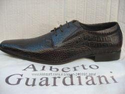Туфли ALBERTO GUARDIANI натур. кожа  мод. 02 коричневые