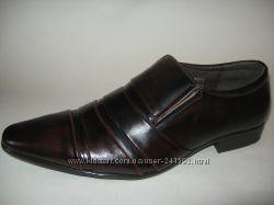 Туфли мужские PATRIOT натур. кожа  черные и коричневые