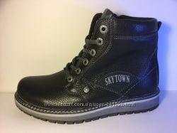 Зимние ботинки натур. кожа натур. мех подросток р. 35-39 Модель 6014