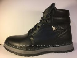 Зимние ботинки типа спорт-комфорт натур. кожа натур. шерсть р. 40-48