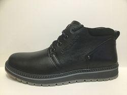 Зимние ботинки типа спорт-комфорт натур. кожа натур. шерсть р. 40-45