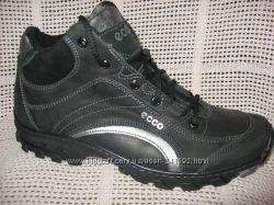 Зимние ботинки типа ессо натур. кожа набив. мех р. 40-45 модель 110