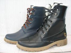 Зимние ботинки типа Тимберленд натур. кожа набив. мех   р. 36-41
