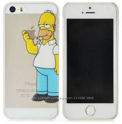 Чехол-накладка Homer Simpson для iPhone 5, 5S, 4, 4s