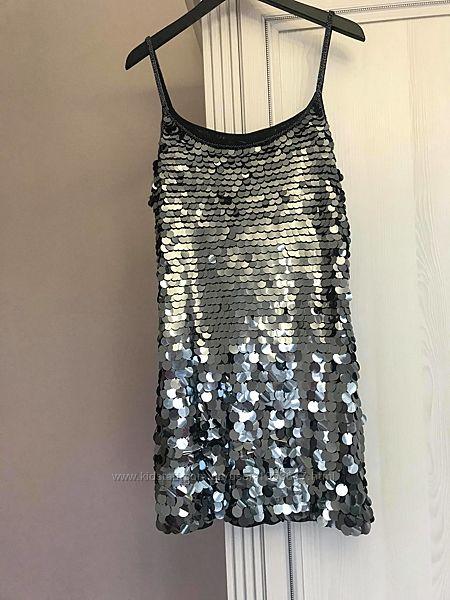 Шикарное мини платье Pimkie в пайетки р. S/M