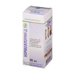 Нормофлорин Д, флакон 100 мл, Бифилюкс, прибиотик, лакто  бифидо бактерии