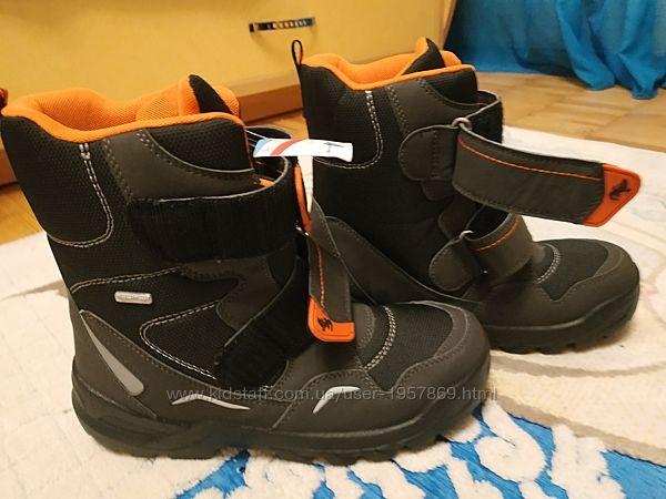 Зимние ботинки для мальчика Sympa Tex Германия, 36 размер, чёрные