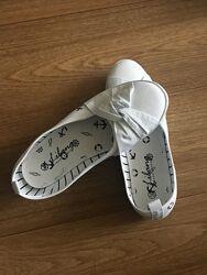 Балетки белые женские балетки текстиль балетки летние