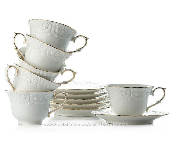 Сервиз чайный 12 предметов S&T Белая ночь