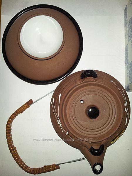 Набор для саке, зеленого чая керамика. Япония. Добин. Неизбитый подарок