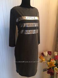 Платье MANGO  оверсайз серое