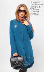 Стильное пальто рубашечного кроя