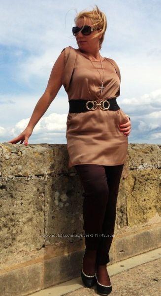 Шёлковая блуза - туника натуральная