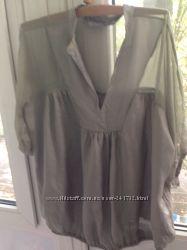 Блуза шелк Zara для беременной