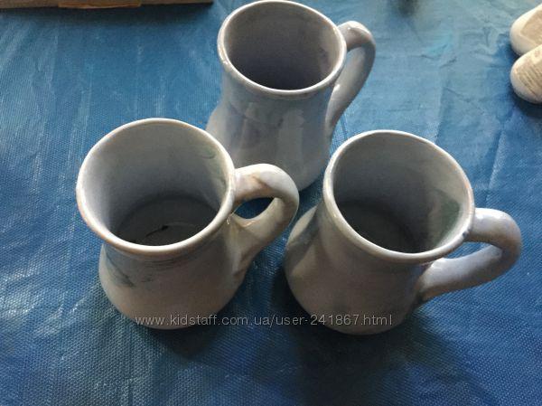 Набор пивных глиняных кружек