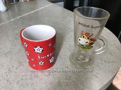 Посуда из дома кофе , чашка и бокал для капуччино