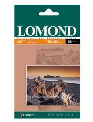Фотобумага LOMOND глянцевая и матовая Формат 10х15, 50 и 100 листов