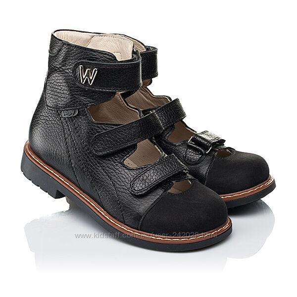 Туфли и босоножки с высоким берцем для мальчика от ТМ Woopy Orthopedic