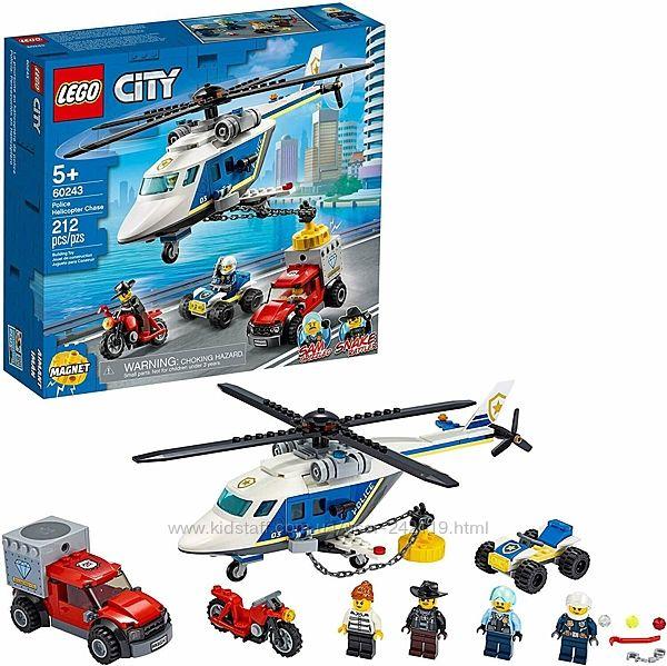 Конструктор LEGO 60243 City Погоня на полицейском вертолёте