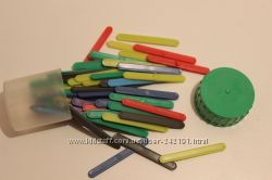 Счетные палочки, ножницы, подставка для книг