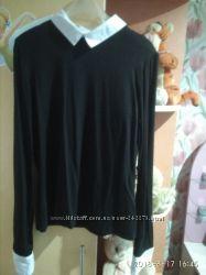 Школьная форма блуза рубашка трикотаж вискоза рост 150-165см