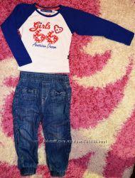 Стильный гардероб для девочки 2-3-4год