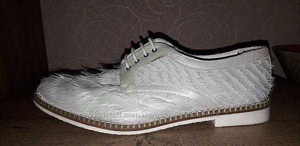41р-27 см Туфли оксфорды MIISTA LONDON дизайнерские кожа натуральная нюан
