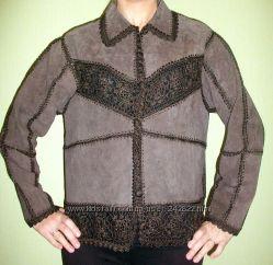 Куртка пиджак новая замшевая  куртка р. 48-50