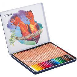Карандаши цветные Kite K18-1053 акварельные метуп 24цв