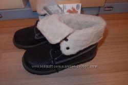 Кожаные ботинки 32, 33 размер Chicco , новые