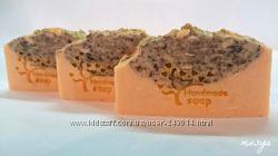 Натуральное мыло с нуля с пудрой клубники